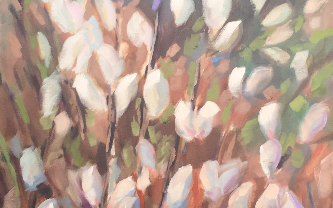 Spring Willows Painting: Day 4 of the 30 day painting challenge